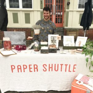 AS220 Industries Member Micheal Ezzell of Paper Shuttle
